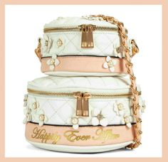 Aldo Rochelle Wedding Cake Cross Body Bag features quilted fabric with floral embellishments, pastel peach accents & the Happily Ever After message! At a discount!!!