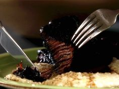 Red Wine Braised Short Ribs recipe from Claire Robinson via Food Network