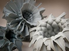 Simon Zsolt József / Hungarian ceramic designer - wow really different with the texture inside and out