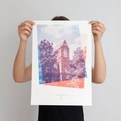 A_The_Big_Letter_Hunt - Letter A risograph print - Rute Nieto Ferreira & Amandine Alessandra - Typography in the architecture of the East End