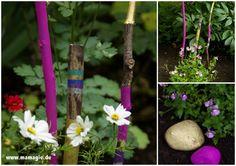 Mit Kindern für den Garten basteln / Kids crafts for the garden