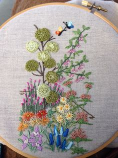 Butterflies - blanket stitch, bullions and pistil stitch