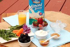How to make a berry-veggie smoothie featuring Greek yogurt!