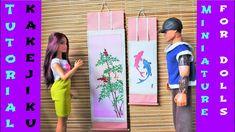 Tutoriel : kakejiku miniature pour nos dolls 🗾🎎🗾 Doll Tutorial, Barbie, Miniatures, Dolls, Youtube, Baby Dolls, Puppet, Doll, Baby