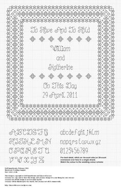 Blackwork Wedding Sampler