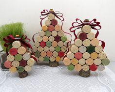 Wine Cork Christmas Trees Set of 3 di 4EyesAndEars su Etsy