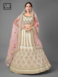 Rs10,800.00 Bridal Lehenga Choli, Lehenga Blouse, Designer Bridal Lehenga, Party Wear Lehenga, Plus Size Lehenga, Wedding Lehenga Online, Off White Color, Wedding Wear