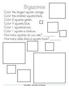 shapes activities for kindergarten ell esl students on pinterest sh. Black Bedroom Furniture Sets. Home Design Ideas