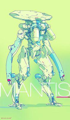 Mantis, Brian Sum on ArtStation at https://www.artstation.com/artwork/Le6Aw