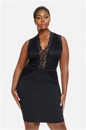 Jacqueline Lace Detail Bodycon Dress