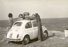 Italy '60 ..the Fiat Cinquecento was the first travel's car of the italian people