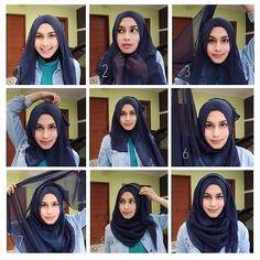Quick & Simple Hijab Tutorial for School ideas