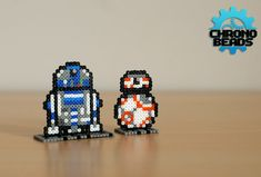 R2D2 and BB-8 - Star Wars hama mini beads by ChronoBeads