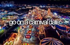 Go On a Carnival Date / Bucket List Ideas / Before I Die...done this but one of my faves #bucketlist The Best Travel Prices Check Us Out!!!  Travel For Less Become a Member Today!!!