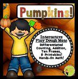 Pumpkins!  Interactive PlayDough Mats, Counting Centers an