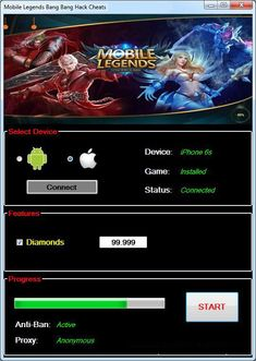 Mobile Legends Hack No Human Verification No Survey? Mobile Legends Hack Tools — No Verification — Unlimited Diamonds (Android and Ios) Mobile Legends Hack Cheats! Episode Choose Your Story, App Hack, Android Hacks, Iphone Mobile, Hack Online, Cheat Online, Mobile Legends, Mobile Game, Bang Bang