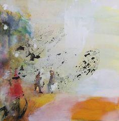 """Saatchi Art Artist Mona Hoel; Painting, """"On The Beach - Walking On Sunshine"""" #art"""