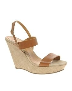 ASOS HARRIS Leather & Canvas Wedge Sandals - StyleSays