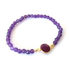 Tweet, share & like!      Gold-Plated Bracelet 'Flat Ametist Ruby' http://www.boumanonline.com/jewelry/gold-plated-bracelet-flat-ametist-ruby-ps61580