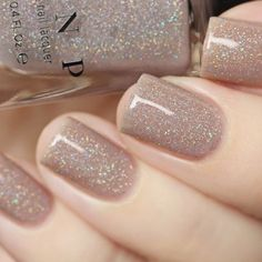 Bright Summer Acrylic Nails Discover Manor House - Taupe Holographic Sheer Jelly Nail Polish by ILNP Jelly Nails, Dipped Nails, Nail Polish Colors, Gel Polish, Best Nail Colors, Holiday Nail Colors, Dip Nail Colors, Winter Nails, Spring Nails
