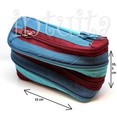 Turquoise And Claret Zipper Pencil Case Zipper Pencil Case, Beauty Case, Dont Be Afraid, Unique Gifts, Two By Two, Coin Purse, Turquoise, Purses, Handmade