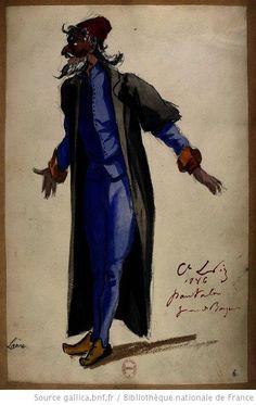 Pantalon [Les jumeaux de Bergame : vingt maquettes de costumes / par le comte Lepic] Auteur : Lepic, Ludovic Napoléon (1839-1889). Dessinateur Date d'édition : 1885-1886