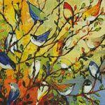 16 Birds - Cross Stitch Chart