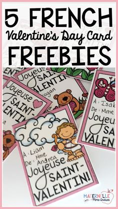 Maternelle avec Mme Andrea: FREE French Valentine's Day Cards for Everyone! French Teaching Resources, Teaching French, Teaching Ideas, Teaching Materials, Classroom Resources, French Kids, Free In French, Valentine Day Love, Valentine Day Crafts