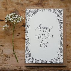 Happy Mother's Day Card / Modern Calligraphy / by EleriHafDesigns