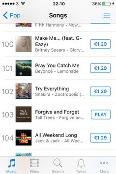 Forgive and forget on iTunes 👏