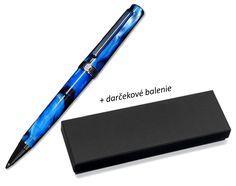 Eleganzzo - luxusné guľôčkové pero (vzácna živica) morskej modrej farby Office Supplies, Luxury