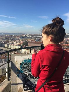 API study abroad student looks out at lovely Lisbon