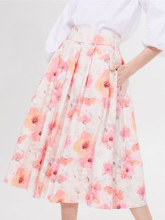 Fustă midi din material majoritar bumbac, MOHITO, ZY361-01P Waist Skirt, High Waisted Skirt, Lady, Skirts, Fashion, Moda, High Waist Skirt, Fashion Styles, Skirt