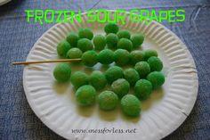 Mess For Less: Frozen Sour Grapes