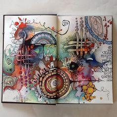 Art journal (by Deb Weiers) #abstractart