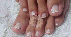 Fantástico! Unhas decoradas para os pés, deixe-se inspirar! - # #desenhosnasunhas #Unhaspintadas