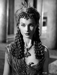 Vivien Leigh, Caesar and Cleopatra, 1945.  Costumes by Oliver Messel.