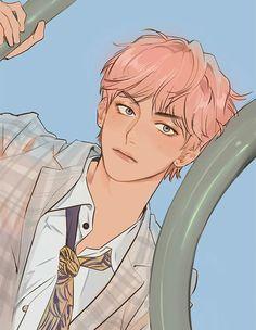 My anime boi taehyung Fanart Bts, Taehyung Fanart, Anime Guys, Manga Anime, Anime Art, Bts Art, Character Art, Character Design, K Wallpaper