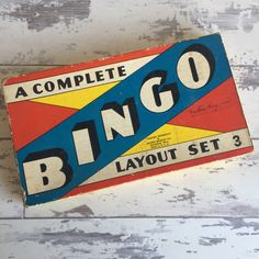 Vintage Bingo Game by Milton Bradley - Layout Set 3 Vintage Hotels, Milton Bradley, Bingo Games, Vintage Winter, Leather Clutch Bags, Vintage Games, Flower Boxes, Vintage Children, Rustic Style