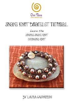 Snake Knot Wrap Bracelet Tutorial, How to make Snake Knot leather and pearl bracelet, make macrame leather jewelry, leather jewelry tutorial by omtarabead on Etsy