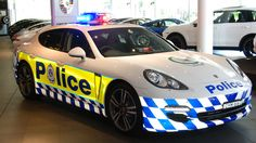 """""""This is a photo of a Porsche Panamera police car donated to New South Wales Police Australia by Porsche."""""""
