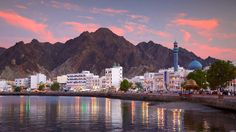 Blick auf die Hafenstadt Maskat (Oman).