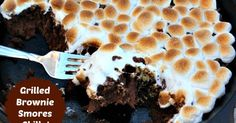 You can grill these brownie snores or bake in the oven!  So easy!