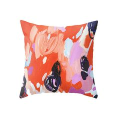Painterly Pillow: Art isn't just for your walls — add abstract allure to your sofa or bed with this Pie for Breakfast Throw Pillow ($20).  – AE