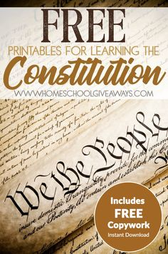 Constitution Worksheet for Kids Free Printables for Learning the Constitution Free Instant Social Studies Notebook, Social Studies Classroom, Social Studies Activities, Teaching Social Studies, History Classroom, Interactive Activities, History Education, Teaching History, Kids Education