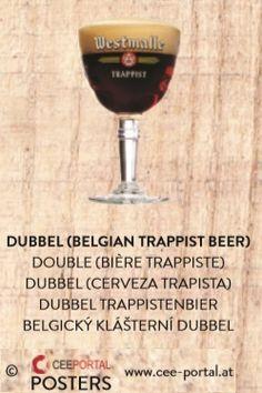 DUBBEL (BELGIAN TRAPPIST BEER) DOUBLE (BIÈRE TRAPPISTE) DUBBEL (CERVEZA TRAPISTA) DUBBEL TRAPPISTENBIER BELGICKÝ KLÁŠTERNÍ DUBBEL Wine Glass, Wine, Foods, Wine Bottles
