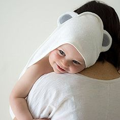 Premium Hooded Baby Towel by Humble Bee Baby | Extra Soft and Absorbent Hypoallergenic Bamboo Towel Perfect for Baby's Sensitive Skin | Sized for 0 to 2yrs | Great Registry Item