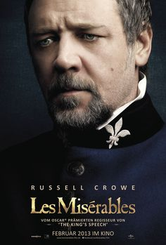 Hugh Jackman and Russell Crowe get 'Les Miserables' character posters as Jean Valjean and Inspector Javert. Les Miserables Characters, Les Miserables Poster, Les Miserables 2012, Hugh Jackman, Hugh Michael Jackman, Jean Valjean, Anne Hathaway, 2012 Movie, Les Miserables