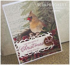 by Angela for the Friday Challenge at Scrapbooker's Paradise Blog