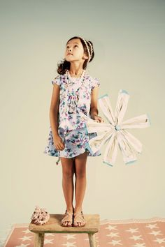 aa086b01dd1 Kenzo Kids summer 2012 many prints are delicate on a white background for  the girls ranges